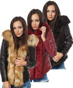 Дамско кожено яке - 4011 - Alf.ro