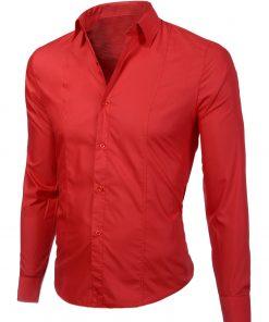 Изчистена мъжка червена риза
