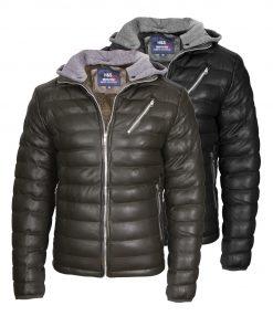 Мъжко зимно кожено яке - 3165 - Alf.ro